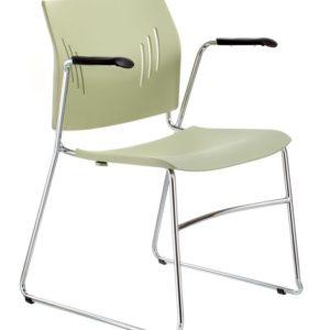 橄欖綠ACE-05A扶手訪客椅