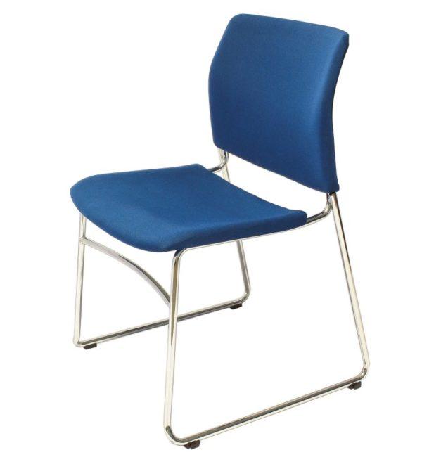 藍色ACE-05CF包布口型腳訪客椅