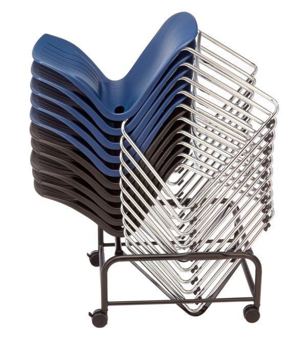 敦煌傢具-TEC05C口型腳訪客椅與堆疊台車