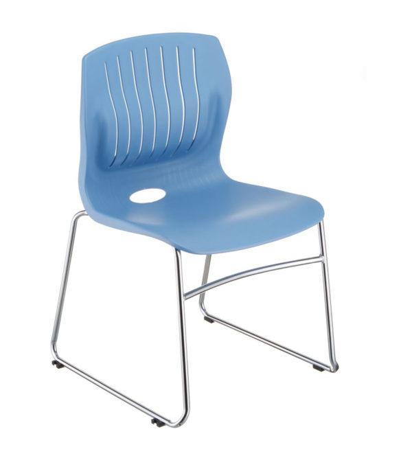 敦煌傢具-TEC05C口型腳訪客椅-淺藍色