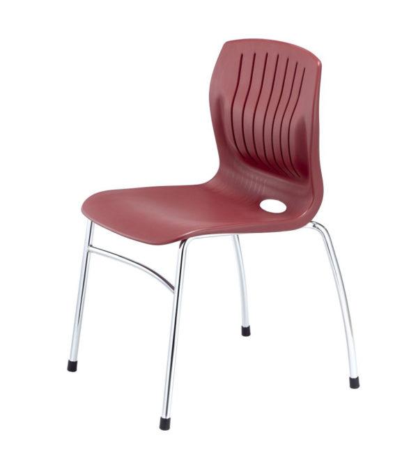 敦煌傢具-TEC-06C四腳訪客椅-酒紅色