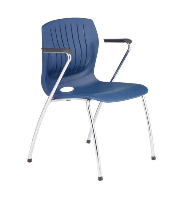 敦煌傢具-TEC-06CA四腳扶手椅-深藍色