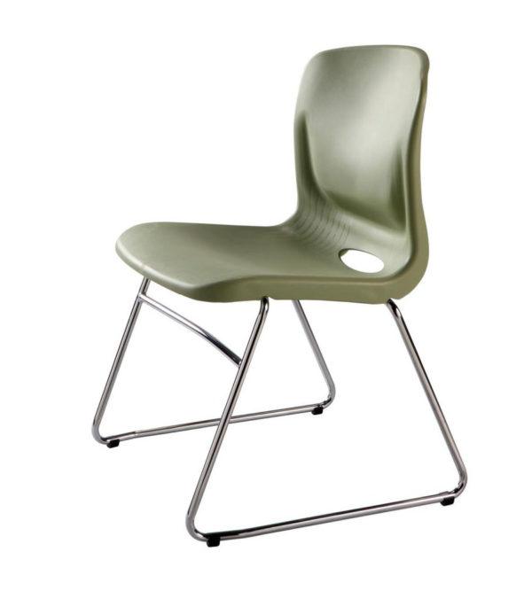 敦煌傢具-TS-05C訪客椅-橄欖綠