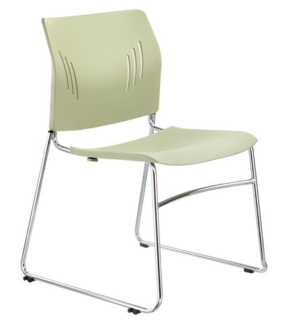 橄欖綠ACE-05C口型腳訪客椅