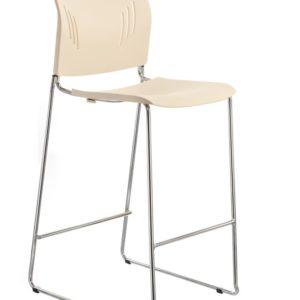 敦煌傢具-ACE-05HC高腳椅-象牙白