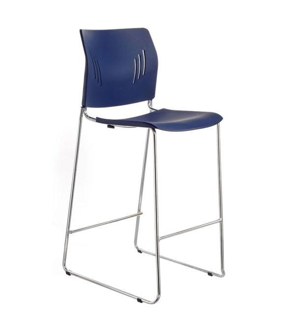 敦煌傢具-ACE-05HC高腳椅-深藍色